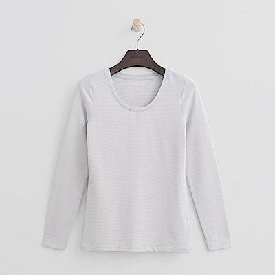 Hang Ten - 女裝-ThermoContro恆溫多功能智慧暖溫圓領上衣-灰色