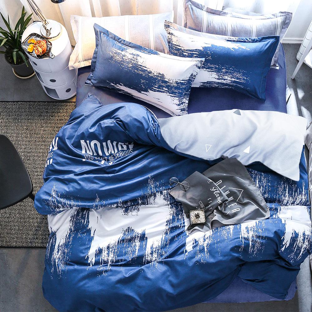 A-ONE 雪紡棉 單人床包/枕套 二件組 翻轉世界 MIT台灣製