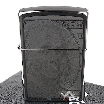 ZIPPO 美系~Currency Design-百元美鈔圖案正反兩面加工打火機