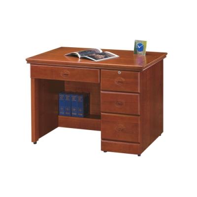 柏蒂家居-路德3.5尺實木辦公桌/書桌/工作桌-105x65x80cm