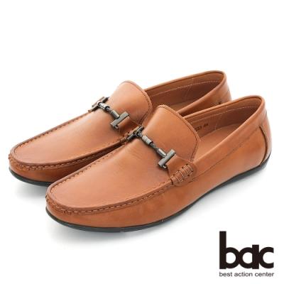 【bac】時尚樂活 精點裝飾真皮帆船鞋-棕色