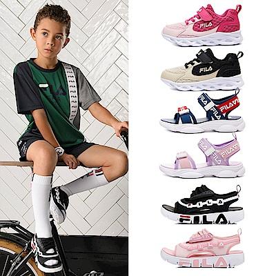 [時時樂] FILA KIDS童鞋-輕量慢跑鞋/運動涼鞋(17cm~22cm任選)