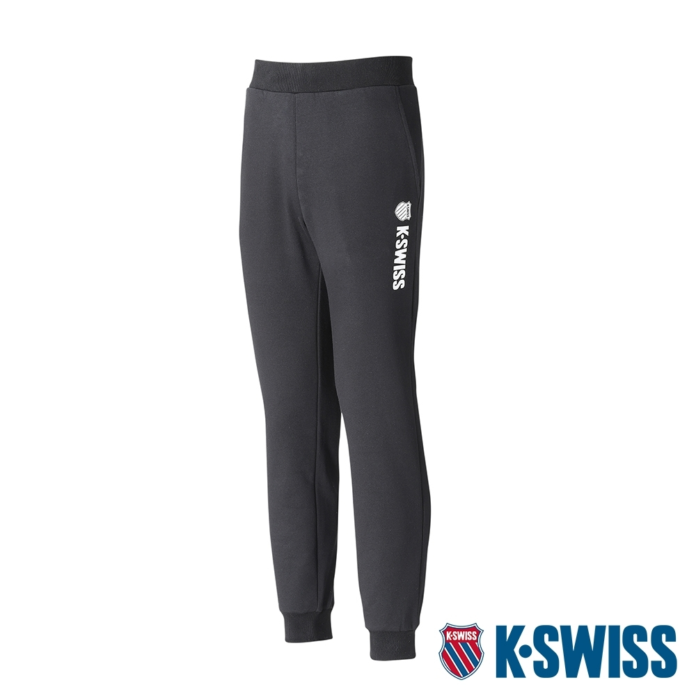 K-SWISS KS Logo Sweatpants保暖運動長褲-女-黑