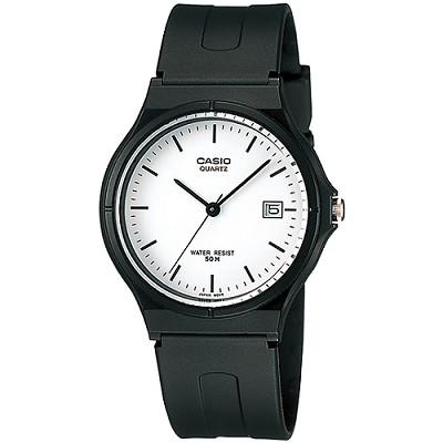 CASIO 簡單生活風時間腕錶-白X丁字刻(MW-59-7E)/28mm