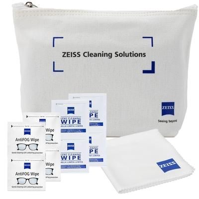 蔡司 Zeiss AntiFog Wipes 防霧拭鏡紙 100張 (含原廠帆布包) + 拭鏡布 + 抗菌拭鏡紙 50張