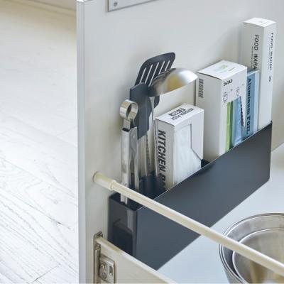 日本【YAMAZAKI】tower櫥櫃分隔置物架(黑)★廚具收納/抽屜收納/置物架/廚房收納