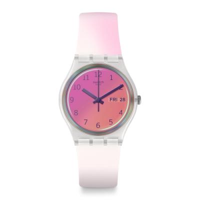 Swatch Transformation系列手錶 ULTRAFUSHIA 漸層藍彩