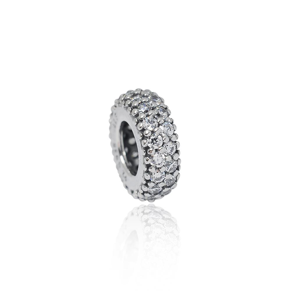 Pandora 潘朵拉 魅力圓環鑲鋯 純銀墜飾 串珠