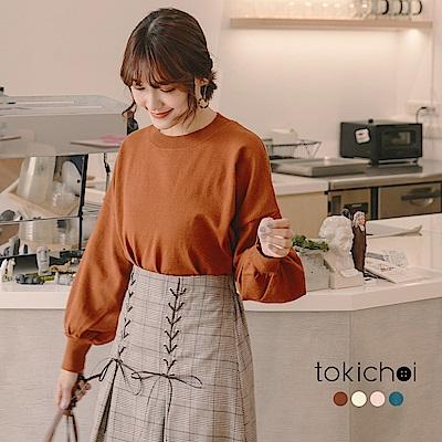 東京著衣 多色人手一件素面圓領上衣-S.M(共四色)