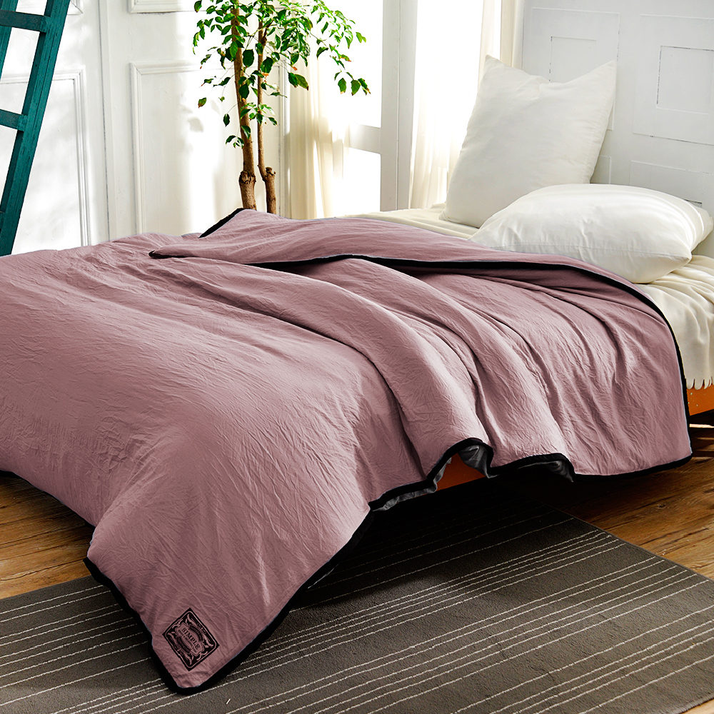 Saint Rose 簡約-紫 標準 純淨水洗絲 被套一入