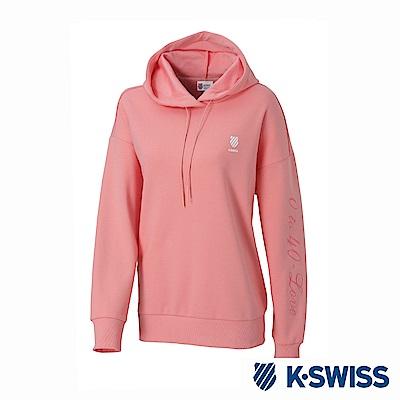 K-SWISS Hooded Sweat Shirts休閒連帽上衣-女-粉紅