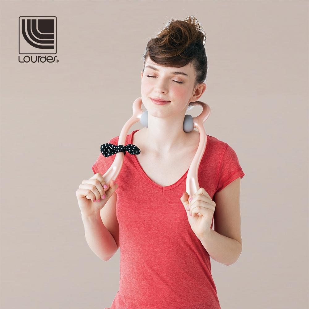 [免費禮物包裝] Lourdes兔子造型手持震動肩頸按摩器(粉紅色)