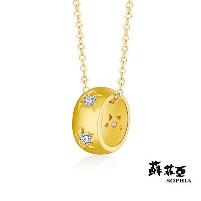 蘇菲亞SOPHIA - Gold Shine系列一輪星願黃金項鍊