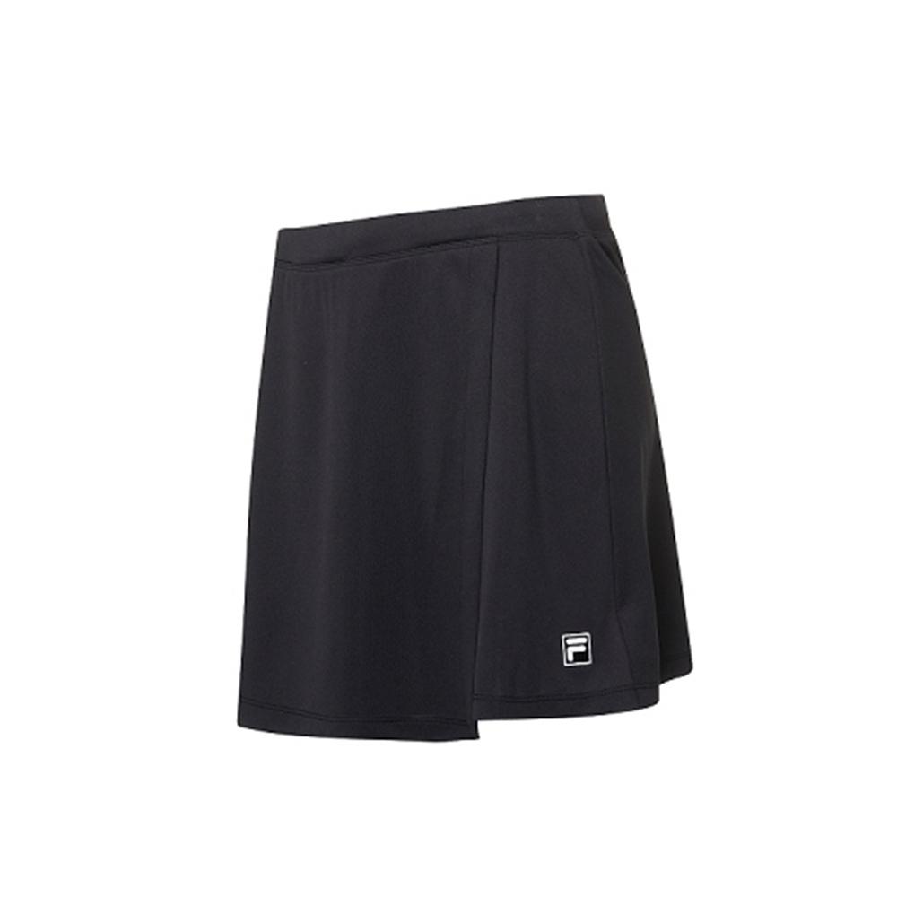 FILA 女抗UV吸濕排汗短裙-黑色 5SKV-1008-BK