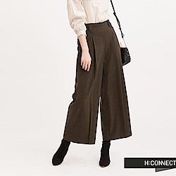 H:CONNECT 韓國品牌 女裝 - 純色俐落打摺寬褲-綠(快)