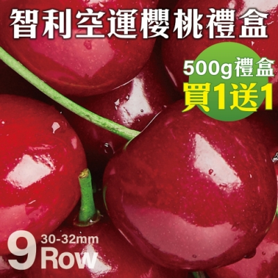 買1送1【天天果園】智利空運9R櫻桃500g/盒,共2盒