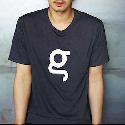 BuyGlasses 簡約印字彈性短袖上衣