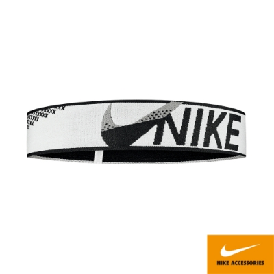 NIKE ELASTIC CROSS STITCH 頭帶 運動 健身白黑 N0003529182OS