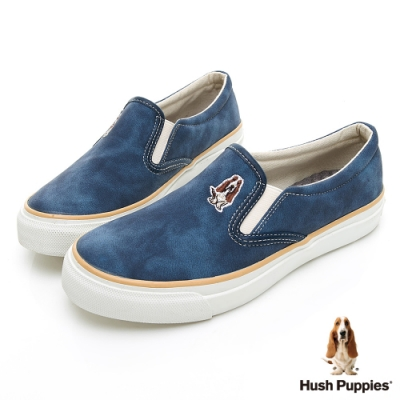Hush Puppies CASUAL 皮革直套便鞋-深藍