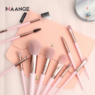MAANGE 專業彩妝刷具組 化妝刷具11件組 化妝刷套裝 美妝好物 粉色 附刷包