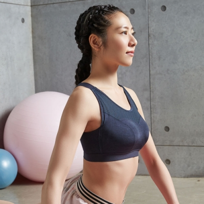 蕾黛絲-LadieSport律動 Level 3 釋壓背心 【大罩杯版】 EQ-EQL 運動內衣 動力黑