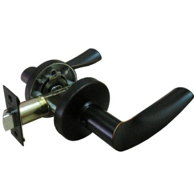 加安牌 LYUX703P 通道鎖 60 mm 古紅銅 圓套盤 現代風 水平把手鎖 水平鎖