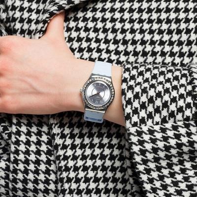 SWATCH 金屬系列手錶 PRECIOUS AQUA 海洋公主-33mm