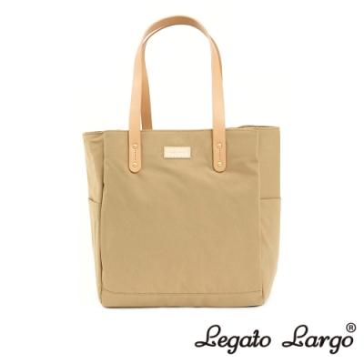 Legato Largo Lineare 日系簡約感 內外防潑水多口袋側背包 杏色