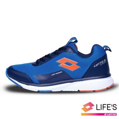 LOTTO 義大利 童鞋 OVERTHROW 避震跑鞋(藍)