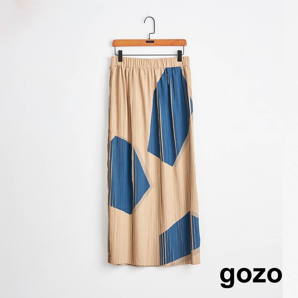 gozo-碎石幾何壓摺裙(兩色) product image 1