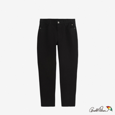 Arnold Palmer -男裝-基本斜紋五袋彈性牛仔褲-黑