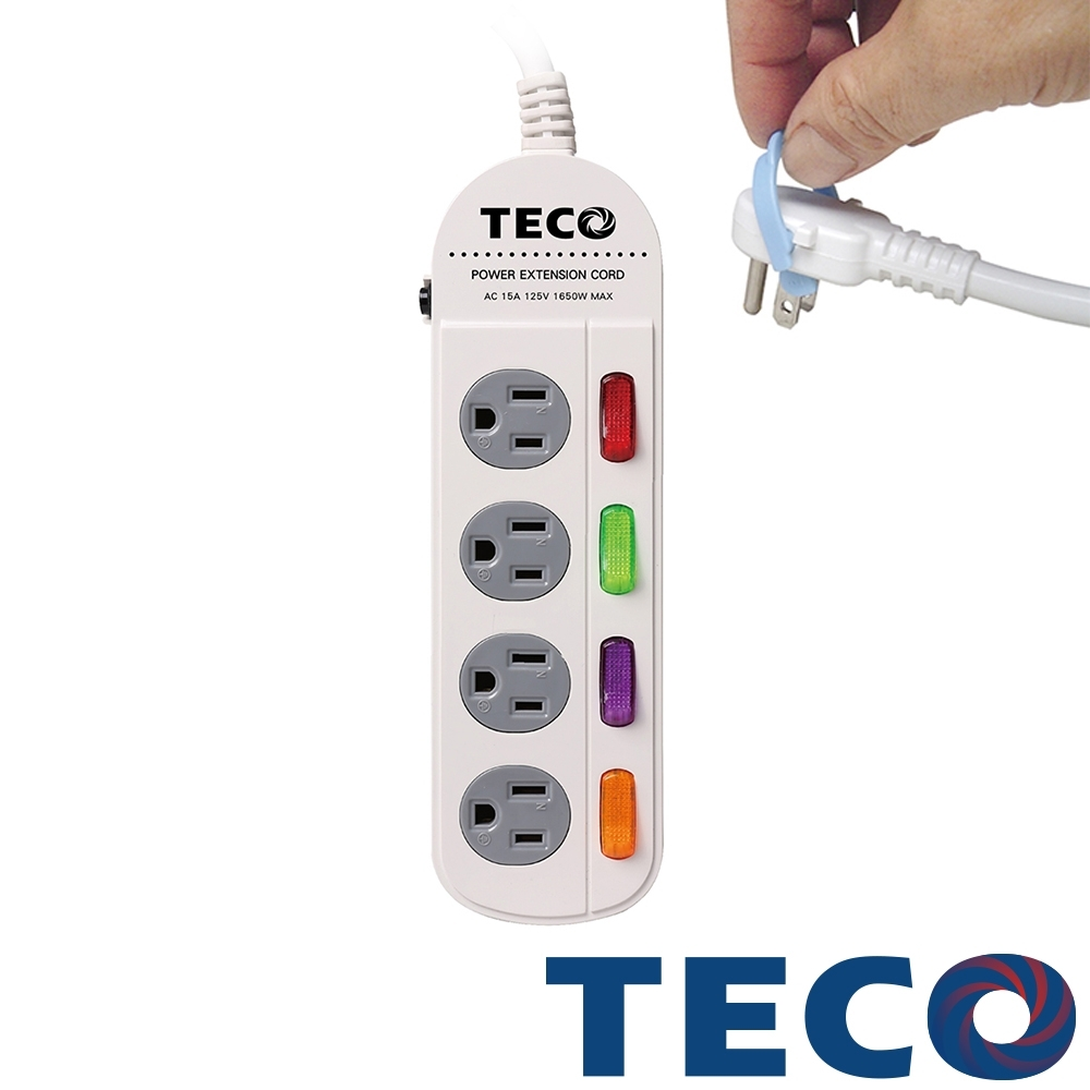 TECO東元 四開四插轉接電源線組 XYFWL240R6
