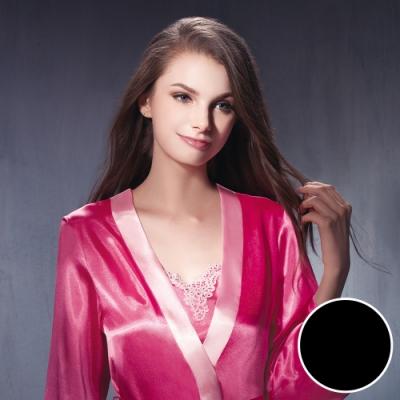 華歌爾睡衣-沙典 L 睡衣罩衫(黑)