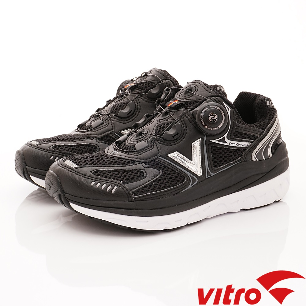 Vitro韓國專業運動品牌-108-B頂級BOA健走鞋-黑(女)