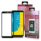 Xmart For 三星 Galaxy J6 超透滿版 2.5D 鋼化玻璃貼-黑