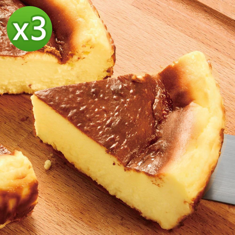 亞尼克 巴斯克生起司6吋x3個(東京排隊甜點)