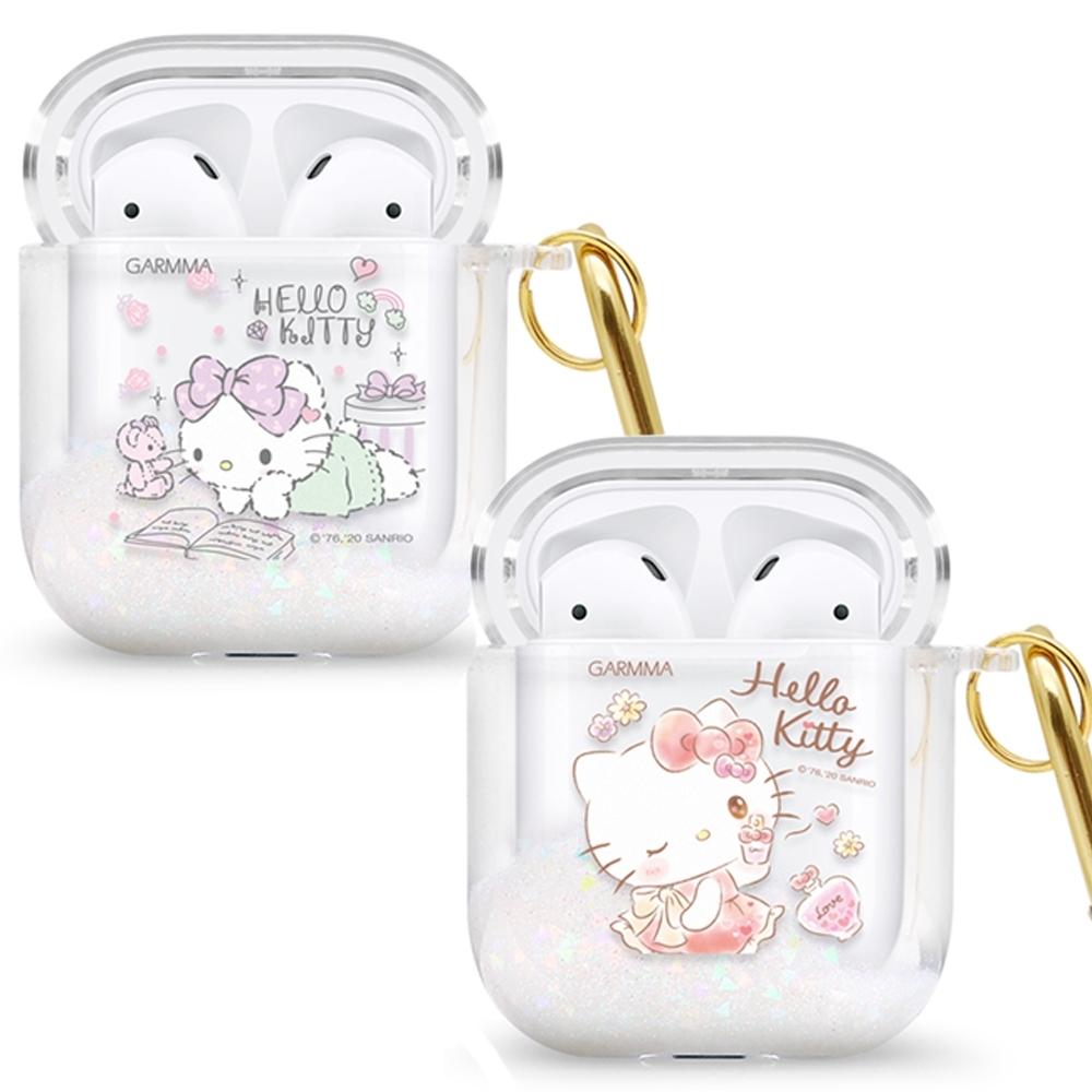 GARMMA Hello Kitty AirPods 1&2代藍牙耳機流沙保護套