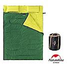 Naturehike 四季通用 加大加厚雙人帶枕睡袋 綠色