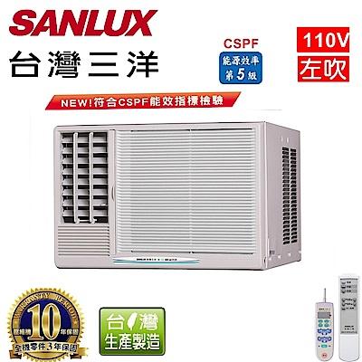 台灣三洋SANLUX 3-5坪窗型定頻左吹式110V  SA-L221FE