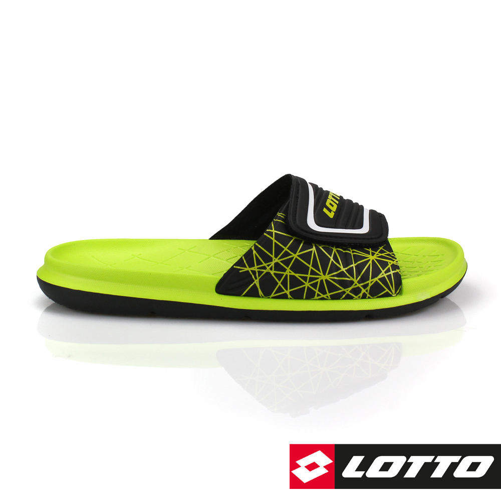 LOTTO 義大利 男 足球風運動拖鞋 (綠)