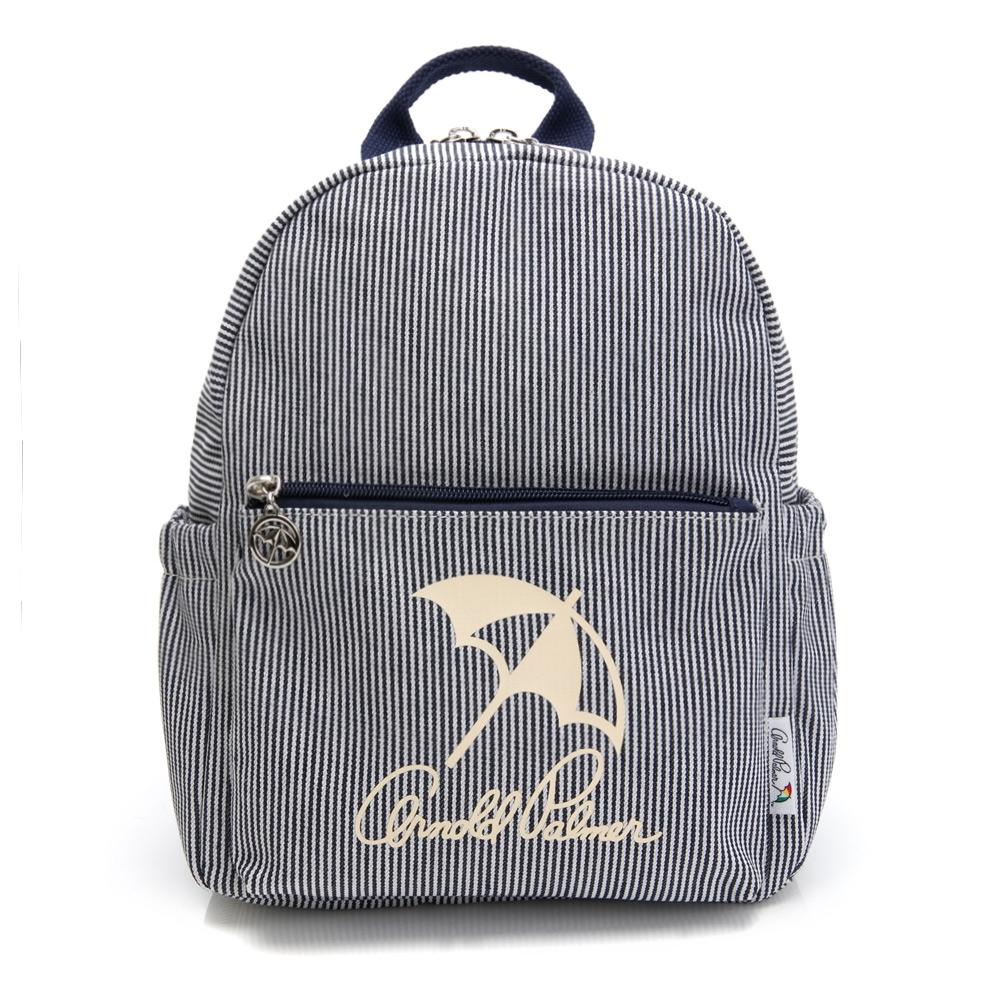 Arnold Palmer -後背包 經典LOGO系列 -藍白條紋
