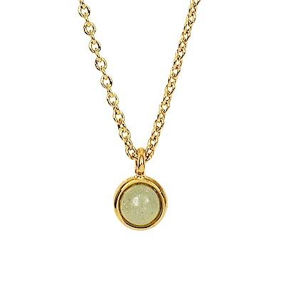 Prisme 美國時尚飾品 小巧淡綠圓珠金色項鍊