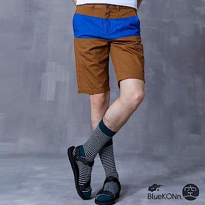 空 BLUE WAY 拼接色塊短褲(棕)