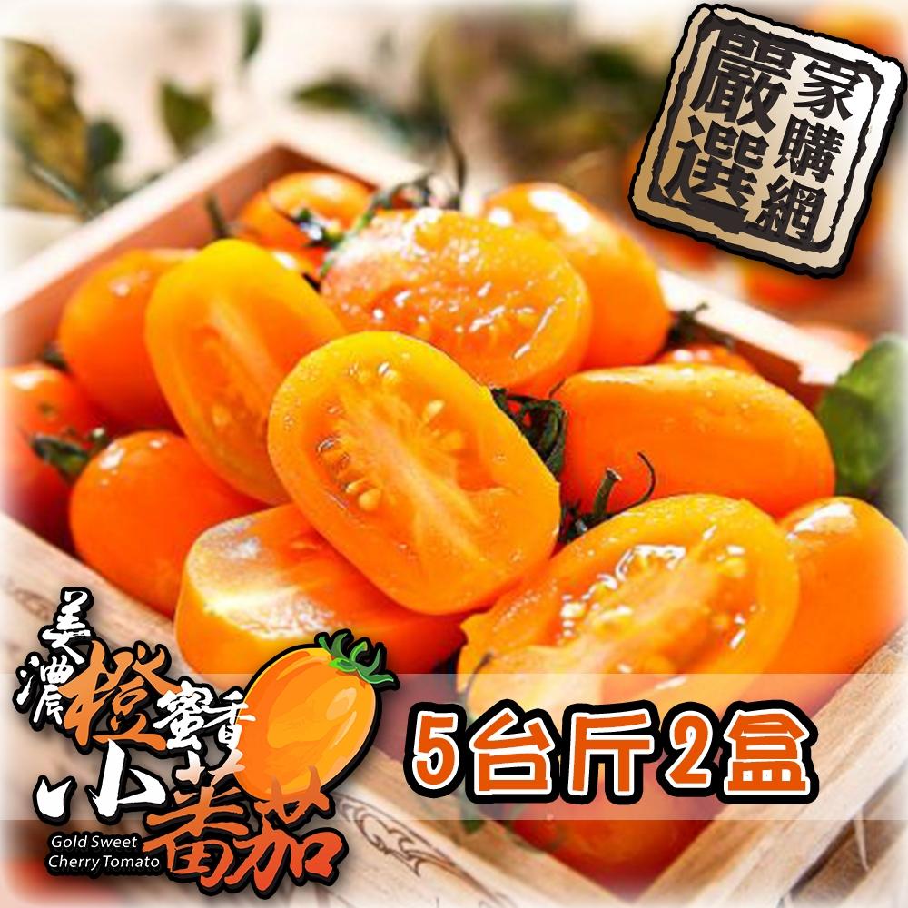 家購網嚴選 橙蜜香小蕃茄 5斤x2盒 (時時樂)