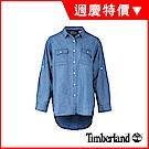Timberland 女款深藍七分袖牛仔襯衫|B3601