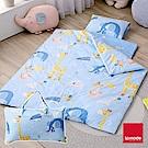 La mode寢飾 嘉年華睡寶包 環保印染100%精梳棉兒童睡袋