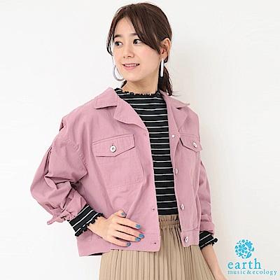 earth music 棉質口袋短版夾克外套