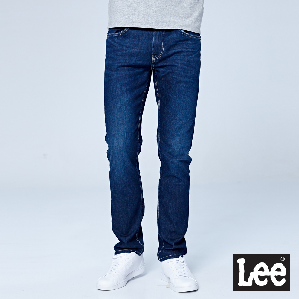 Lee 低腰修身直筒牛仔褲-中色洗水