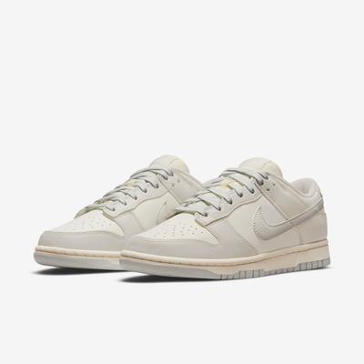 Nike 休閒鞋 Dunk Low 經典款 運動 女鞋 奶油底 仿舊 皮革 Light Bone 灰 白 DD1503-107