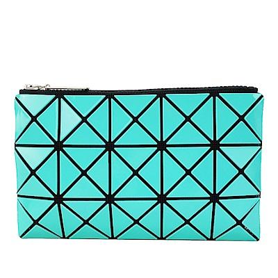 ISSEY MIYAKE 三宅一生BAOBAO 3x5幾何方格長型亮面零錢手拿包(湖水綠)